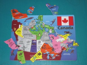 Canada Puzzle - In Progress